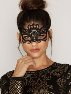 $9.95 Nelly.com: Crown Lace Mask - NLY Accessories - women - Black. New clothes, make - up and accessories every day. Over 800 brands. Unlimited variety.
