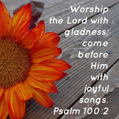 """""""Worship the Lord with gladness; come before Him with joyful songs. Encouraging Bible Verses, Favorite Bible Verses, Scripture Quotes, Scriptures, Cute Little Quotes, Little Things Quotes, Psalm 100, Psalms, Great Are You Lord"""