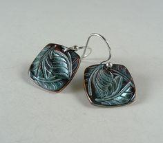Fine Silver Triple Leaf Earrings by Mary Lou McMullen, via Flickr