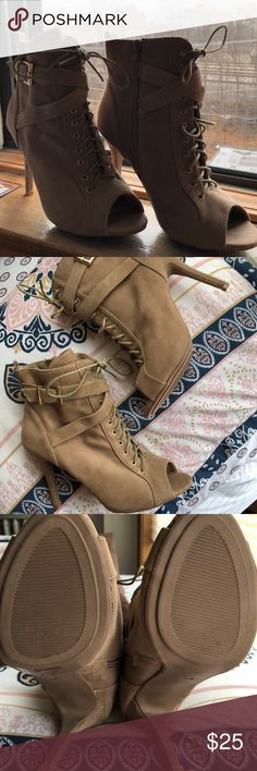 Lace up Bootie Worn once. Size 8, perfect condition! Windsor Shoes Ankle Boots & Booties