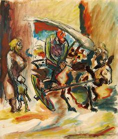 'Peddler' (ca.1930-35) by Jackson Pollock