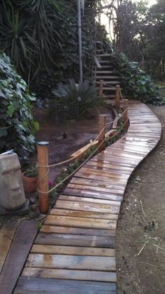 Best Diy Garden Path Ideas That Will Beautify Any House , Regardless of what front yard landscaping idea you favor, pick plants that are suitable for your climate and for the particular conditions in your law. Diy Garden, Garden Paths, Garden Bridge, Garden Pallet, Garden Pond, Pallet Path, Garden Borders, Pallet Planters, Garden Fencing