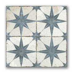 Merola Tile Kings Star Nero Encaustic in. Ceramic Floor and Wall Tile sq. / case)-FPESTRN - The Home Depot - Merola Tile Kings Star Nero Encaustic in. Ceramic Floor and Wall Tile sq. / case)-FPESTRN – The Home Depot - Wall And Floor Tiles, Wall Tiles, Vintage Industrial Decor, Blue Tiles, Patterned Kitchen Tiles, Patterned Wall, Rustic Bathrooms, Gray Bathrooms, Shiplap Bathroom