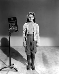 Elizabeth Taylor in a costume test for National Velvet