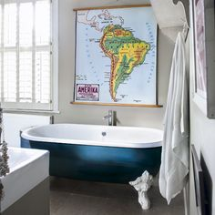 Don't get bored in the tub, this is an idea for decoration