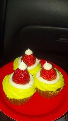 Grinchy Cupcakes