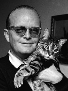Truman Capote, American author of short stories, novels, nonfiction, and plays – including Breakfast At Tiffany's and the true-crime novel In Cold Blood.    Although Capote's own cat love isn't well documented, the nameless feline in Breakfast At Tiffany's plays a major part in the heart of the story.