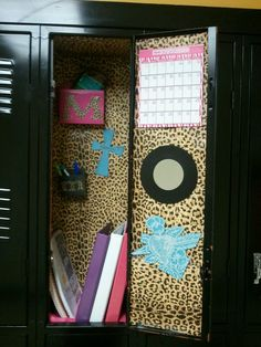 Cheetah School locker! Fun and easy to decorate!
