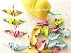 100 Origami Cranes / 3 size / 2 dog & 2 cat designs / by Inorigami