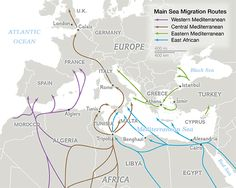 Migration Routes of Europe