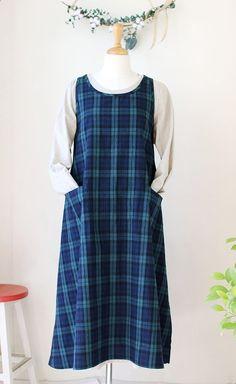에이프런 원피스_블랙와치 : 네이버 블로그 Summer Dresses, Aprons, School, Fashion, Dress, Moda, Fashion Styles, Apron Designs, Schools