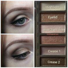 smokey eye using Urban Decay Naked 2 palette