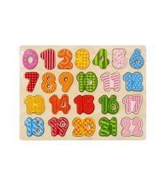 puzzle en bois avec numéros - HEMA