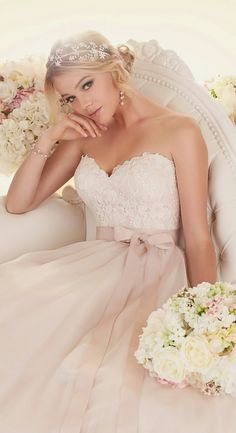 Essense of Australia pink wedding dress #pinkweddingdress #bestweddingdresses #tulle #glamorous #elegant