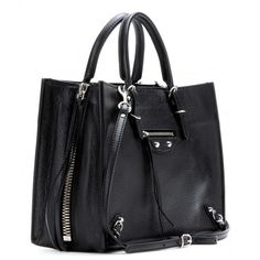 183e8d82a9c2 Balenciaga Papier A6 Zip Around Leather Shoulder Bag (1 859 AUD) ❤ liked on