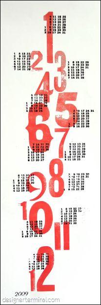Letterpress 09 Calendar