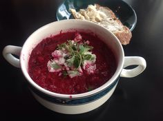 Soup beetroot Beetroot, Salsa, Soup, Mexican, Ethnic Recipes, Kitchen, Cooking, Kitchens, Salsa Music