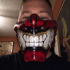Mike Allison added a photo of their purchase Leather Mask, Red Leather, Mike Love, Half Mask, Etsy App, Design Inspiration, Trending Outfits, Unique Jewelry, Handmade Gifts