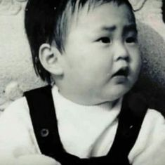 A lovely and cute baby Kim Minseok Exo, Exo Xiumin, Park Chanyeol, Kim Min Seok, Xiu Min, Types Of Boyfriends, Childhood Photos, To My Future Husband, K Idols