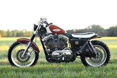 I love Hageman's bikes - every one is superb. 2004 Harley-Davidson XL 1200 Scrambler by Hageman Motorcycles via Pipeburn Harley Davidson Sportster, Harley Davidson Street Glide, Harley Davidson News, Sportster Scrambler, Harley Scrambler, Scrambler Motorcycle, Motorcycle Gear, Harley Bobber, Bobber Custom