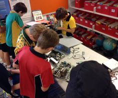 Our library makerspace in action 3D Printer Ozobots MakeyMakey littleBits Goldiblocks Tinker Station