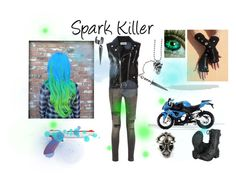 """""""Spark Killer"""" by cat-of-darkness ❤ liked on Polyvore featuring R13, Yves Saint Laurent, BMW and Alexander McQueen"""