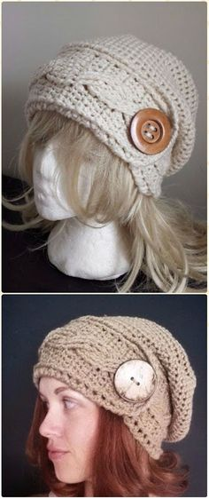 Crochet Cabled Headband Hat Free Pattern - Crochet Cable Hat Free Patterns