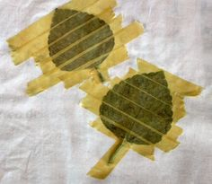 Hammered Leaves Art Tutorial. Print a leaf on fabric using the leaf's ...