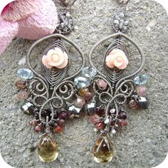 Spring Witch Flower Garden by Diamond Dolls Couture, via Flickr -- This is one of those very few times when one of those flower beads is put to perfect use.