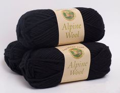Lion Brand Alpine Wool Black Pepper by WritingPlaces on Etsy, $6.36