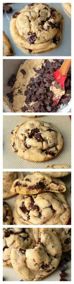 Best Ever Chocolate Chunk Cookies - Thick, chewy, and loaded with chocolate chunks! So easy to make, too! These really are the BEST!
