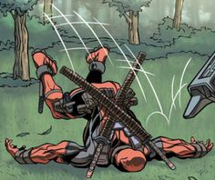 Such beauty. Such grace. He's Deadpool so in your face.