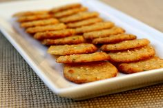 savory parmesan-rosemary shortbread rounds from the kitchen sink recipes