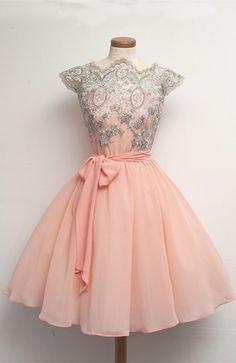 2016 homecoming dress, short homecoming dress, pink homecoming dress, coral homecoming dress, embroidery homecoming dress #homecoming #pink