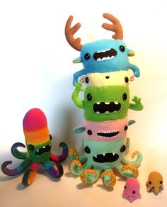 too cute! monster stack! partytime - by OopisNein on Deviant Art