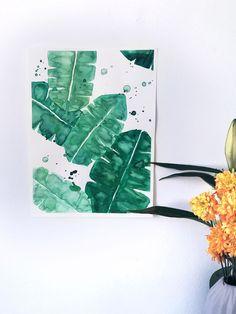 Banana Leaves no.2 Original | Hrefna - Aquarelle originals and prints