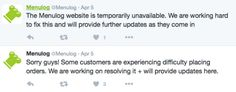 Is this a problem to do with the recent reported Menulog security breach that was reported back in March?