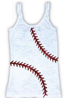 dbd3b3dcc3b00 Ladies Baseball Softball Burnout Racerback Tank -- Cotton -- Custom --  Glitter