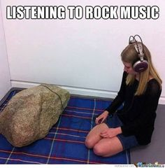 Funny memes Listening to some rock. Funny Baby Images, Funny Pictures For Kids, Funny Meme Pictures, Meme Pics, Jokes Pics, Funny Babies, Funny Kids, Funny Cartoons, Funny Jokes