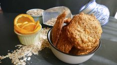 [New] The 10 Best Food Ideas Today (with Pictures) Oatmeal Cookies, Almond Flour, Cake Cookies, Muffin, Healthy Recipes, Snacks, Cooking, Breakfast, Desserts