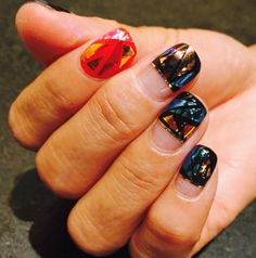 nail art verre #manucure #vernis #tendance #beauté