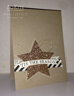 Stampin' Up! - Many Merry Stars, Glimmer Paper, Typeset DSP - ZoKris + YouTube movie