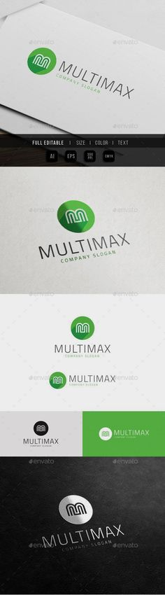 Multimedia Max App - Letter M: Letter Logo Design Template by Logo Design Template, Logo Templates, Best Logo Design, Graphic Design, Letter M Logo, Portfolio Logo, Text Me, Multimedia, Slogan