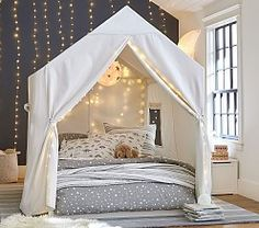 our kids Take blanket forts to the next level with our Camden House Bed. This piece is made from quality materials that last. HOW IT IS CONSTRUCTED House bed is crafted with solid poplar wood Big Girl Rooms, Boy Room, Baby Bedroom, Girls Bedroom, Kid Bedrooms, Unique Teen Bedrooms, Teenage Bedrooms, Dream Rooms, Dream Bedroom