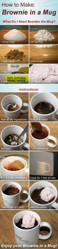 Want a quick treat? How about a Brownie in a Mug? Also less washing up!  #recipe