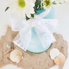 Faux Sea Glass Vase Tutorial (Giant Mason Jar) - Dream a Little Bigger