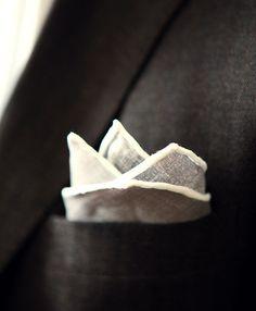 cream #linen pocketsquare #handmade #1
