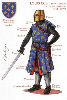 Louis IX (25 April 1214 – 25 August 1270) Saint Louis was King of France and the only canonised king of France. He went on two crusades.