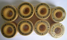 LABEDA ELEGANT indoor roller skate wheels. Set of 8. Brand new. Durometer/Hardness: 98A Diameter: 56mm Width: 31mm Style: Freestyle Color: Golden
