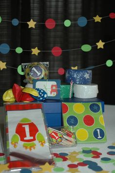 First Birthday Rocket Theme Party in a Box